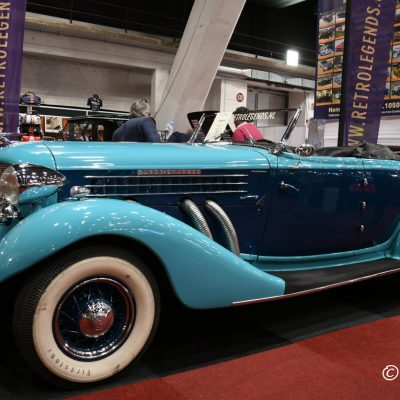 Auburn 851 super charged roadster - Straight Eight - 4600cc - 150hp - 3 speed manual - 1936 USA Interclassics Brussels 2019